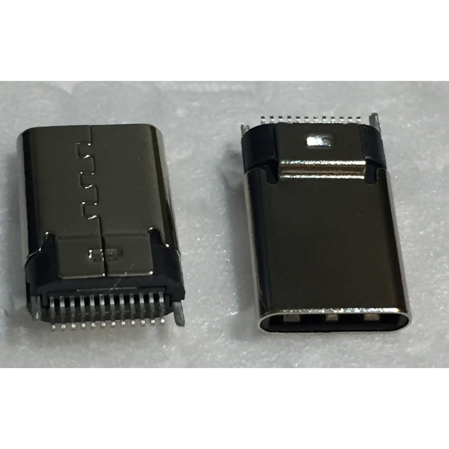 【IF】USB 3.1 TYPE C 連接器 connector 24pin 公 夾板 焊線式 TYPE-C 接頭
