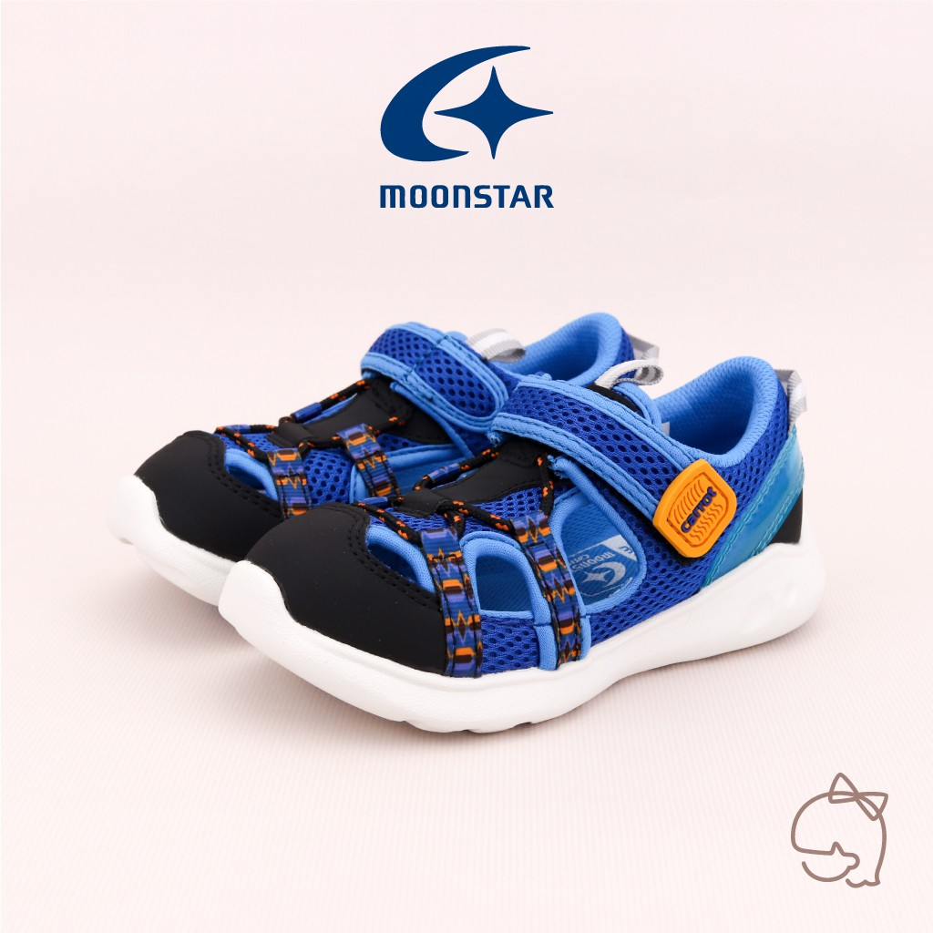 【Moonstar月星】中大童 快乾機能包趾涼鞋(深海迷城) | 小璐朵童鞋
