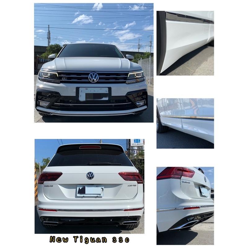 Tiguan VW 福斯 NEW Tiguan R-LINE 前保桿總成 水箱罩 中網 尾翼 後下擾流 雙出 後唇 側標
