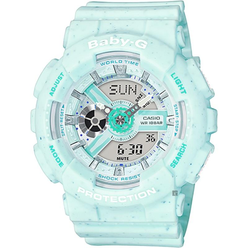 CASIO 卡西歐 Baby-G 薄荷冰淇淋手錶 BA-110PI-2A