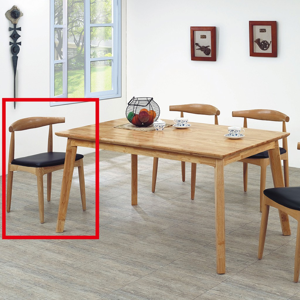 【57cm實木皮餐椅-K43-563】餐椅 北歐工業風 書桌椅 長凳 實木椅 皮椅布椅 餐廳吧檯椅 會議椅【金滿屋】