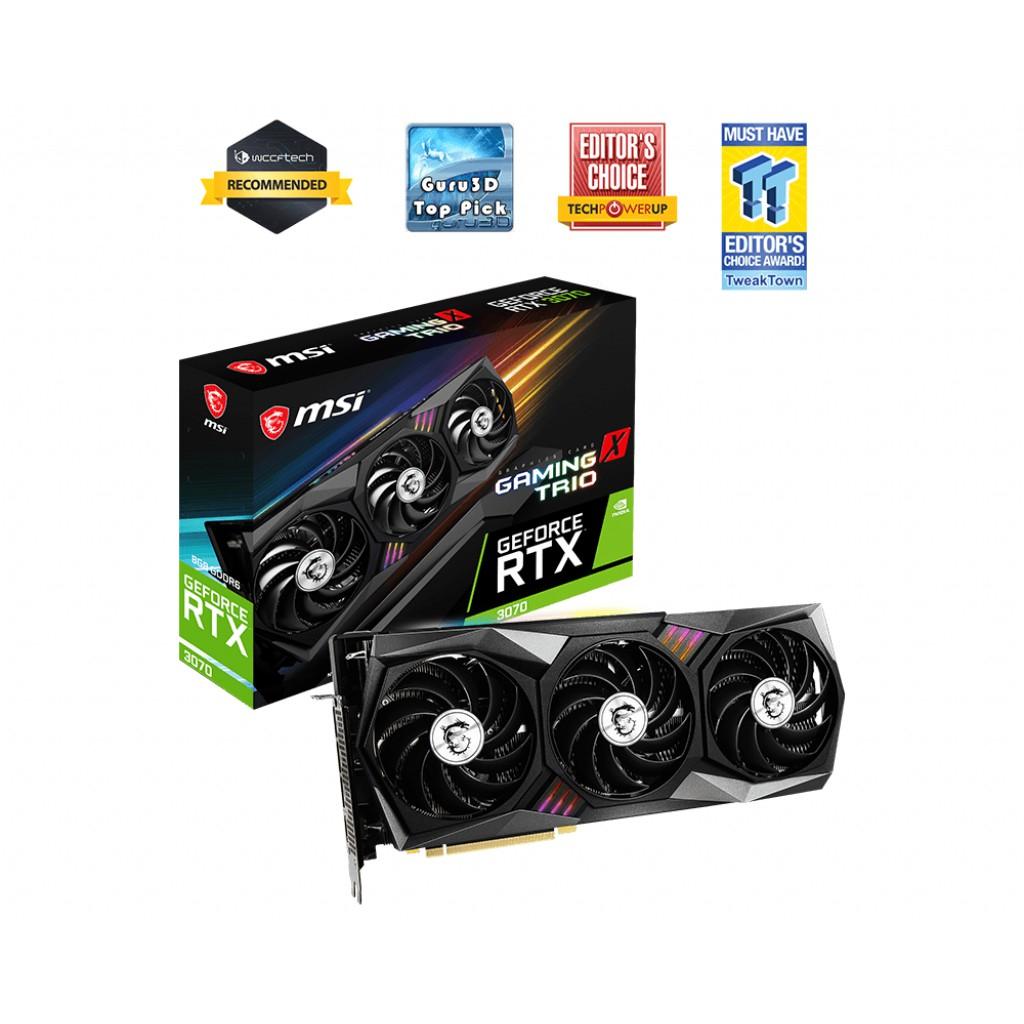 微星 GeForce RTX3070 GAMING X TRIO 顯示卡