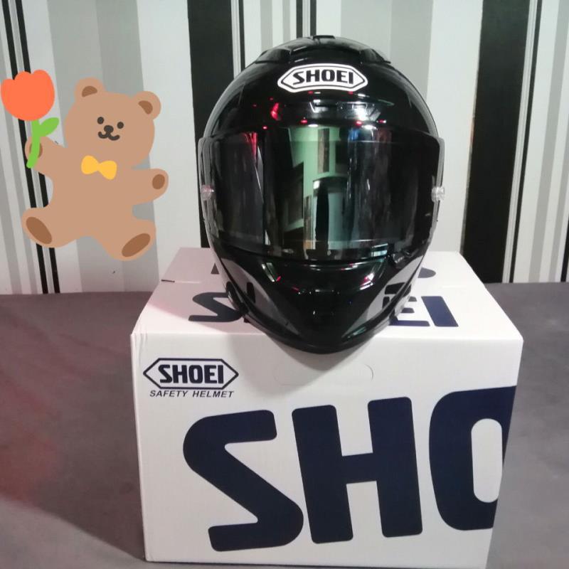 shoei x14 亮黑全盔摩托車頭盔機車騎士裝備記憶海綿雙D扣