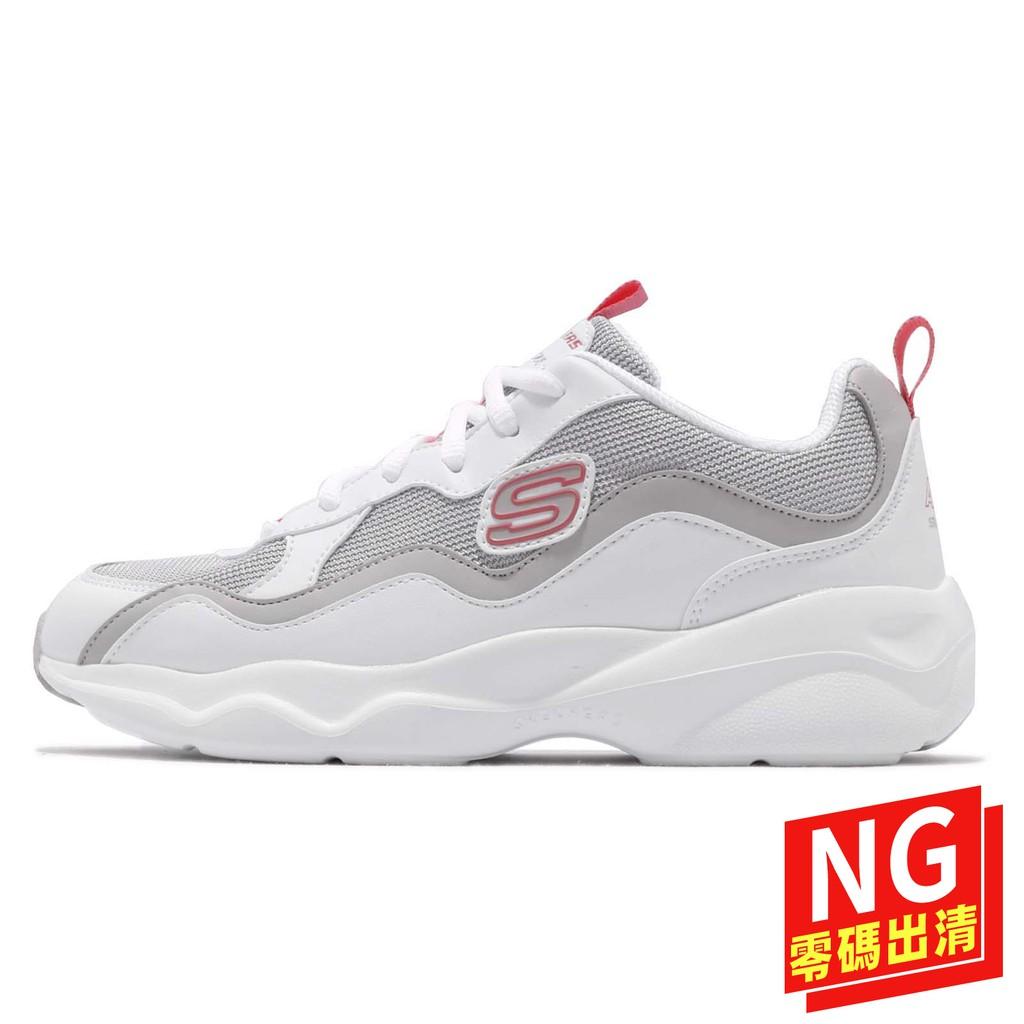 Skechers D Lites Airy-Wave Flash 白 灰 休閒鞋 女鞋 【ACS】(US7.5)
