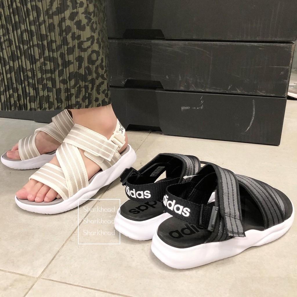 【Sharkhead】現貨 Adidas 涼鞋 愛迪達 黑 白 魔鬼氈 繃帶 米白 奶茶 EG7647 EG5133