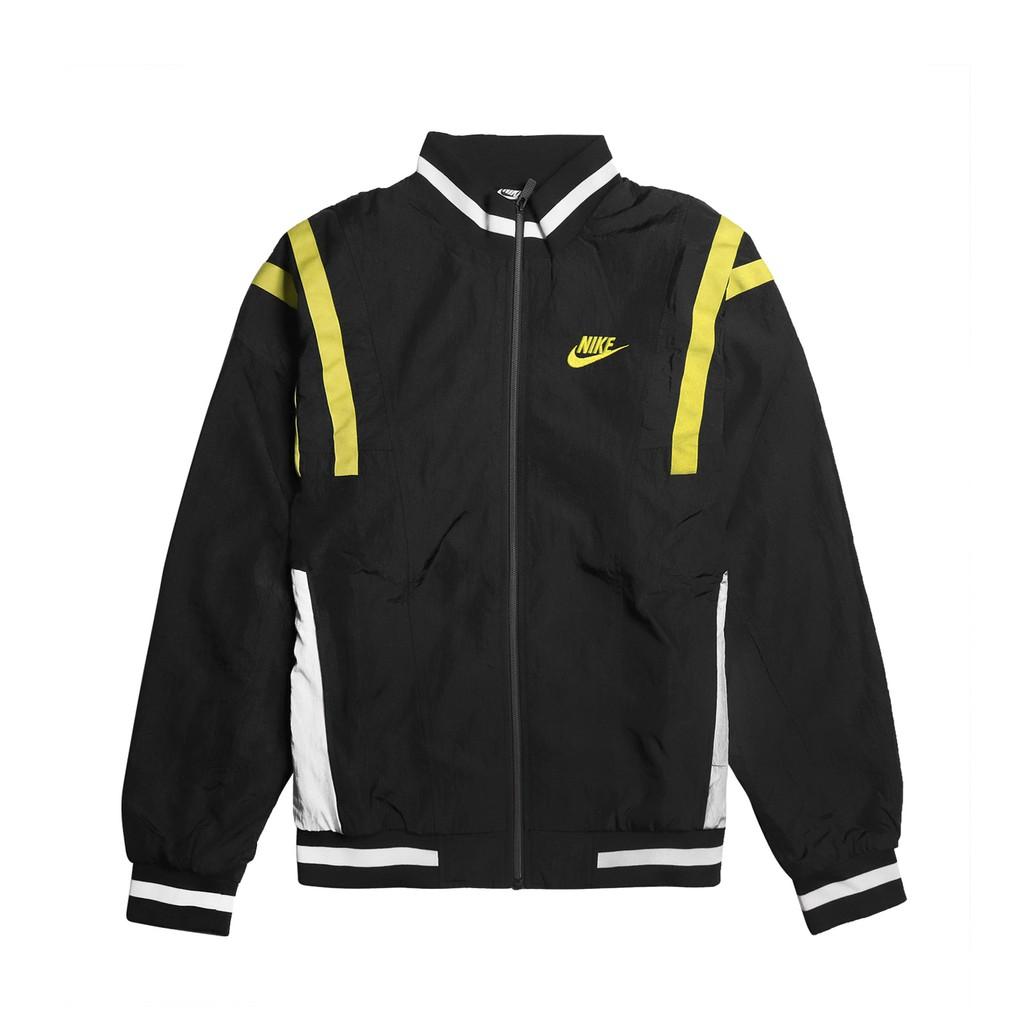 Nike 外套 NSW Woven Jackets 黑 綠 男款 防風外套 立領【ACS】 CJ4922-010