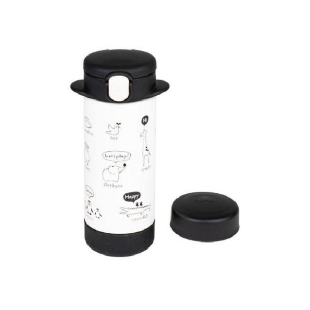 日本 Richell 利其爾 隨身型兩用不鏽鋼保溫杯240ml(俏皮黑) 960元