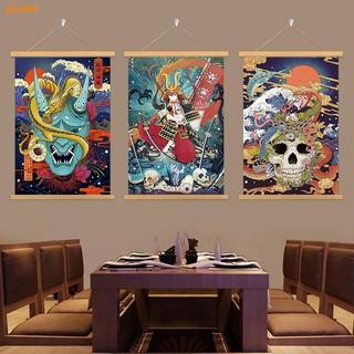 【日韓熱銷】◎❒✓日式浮世繪布藝掛畫居酒屋裝飾卷軸畫電表箱遮蓋畫實木壽司日料店