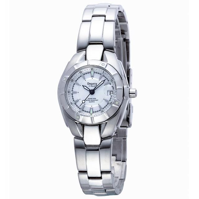 台灣品牌手錶腕錶【TELUX鐵力士】休閒運動腕錶30MM台灣製造石英錶92298W-W鋼帶白面-另有39MM款