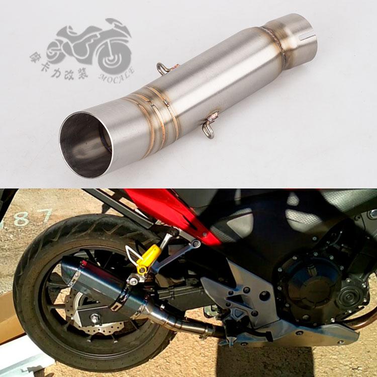 【機車配件】摩托車改裝排氣管CBR500R中段彎管CBR500R排氣管適用51mm消聲器