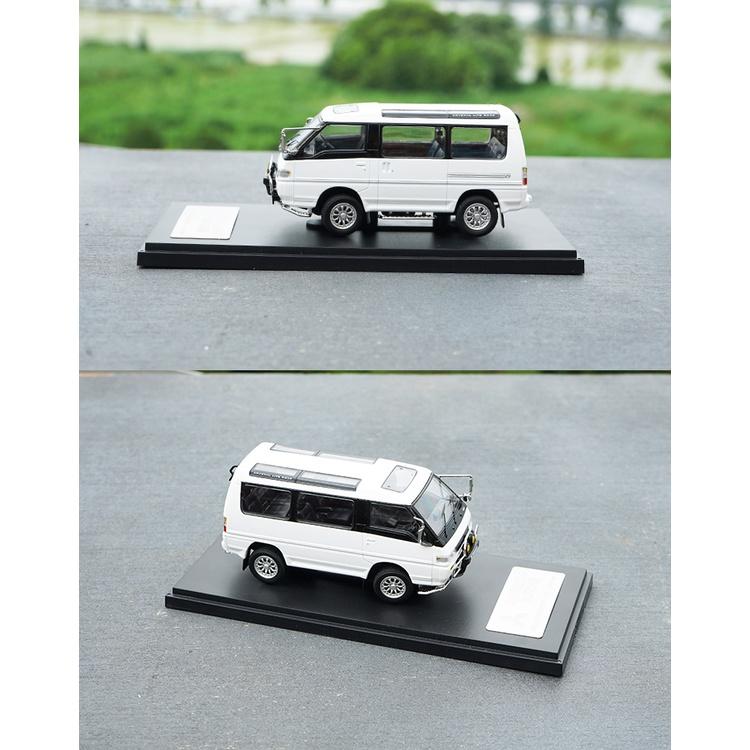 MC 1/43 三菱 得利卡 Delica 4X4 貨卡 越野 箱型車 白色 金屬模型 汽車模型