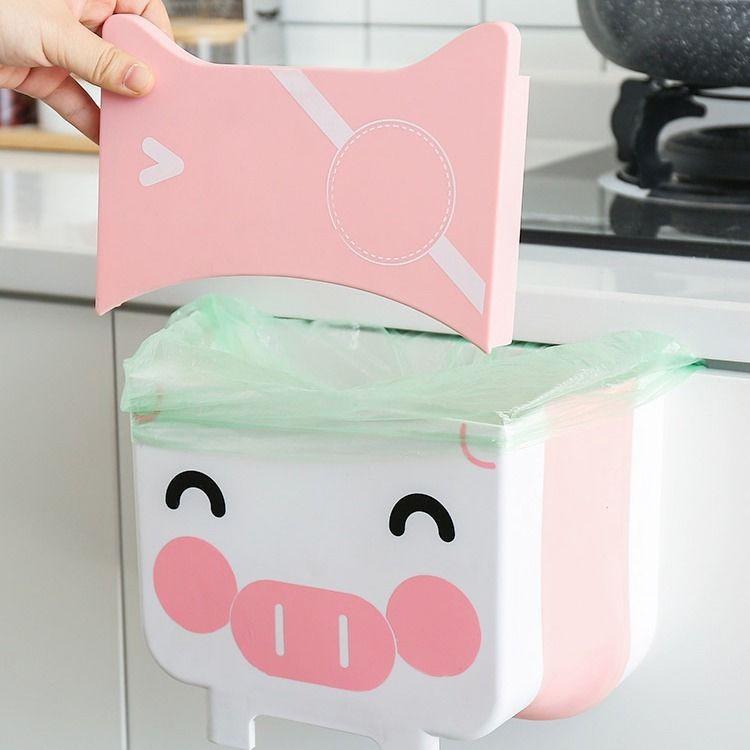 現貨出售可批發廚房垃圾桶壁掛式分類家用大號折疊櫥柜門干濕分離客廳衛生間收納