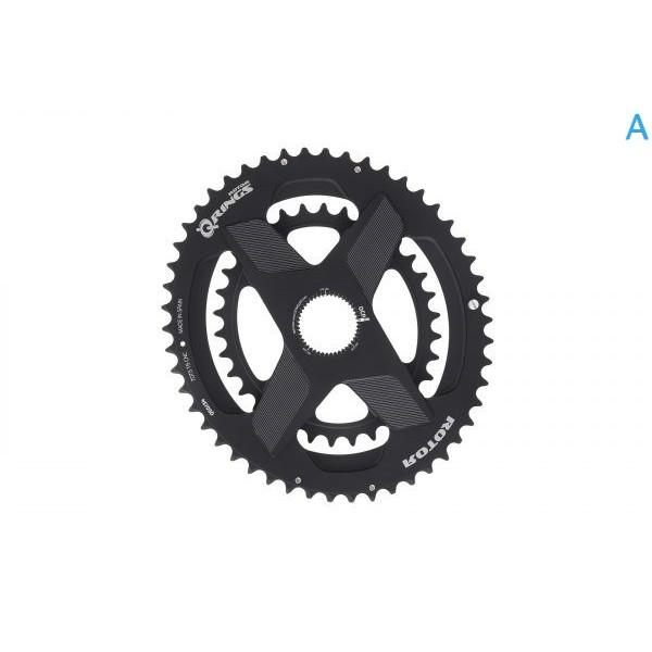 巡揚單車 -【ROTOR】Q RINGS® DM 2x一體直鎖式橢圓齒片 橢圓盤 可搭配2INPOWER INpower