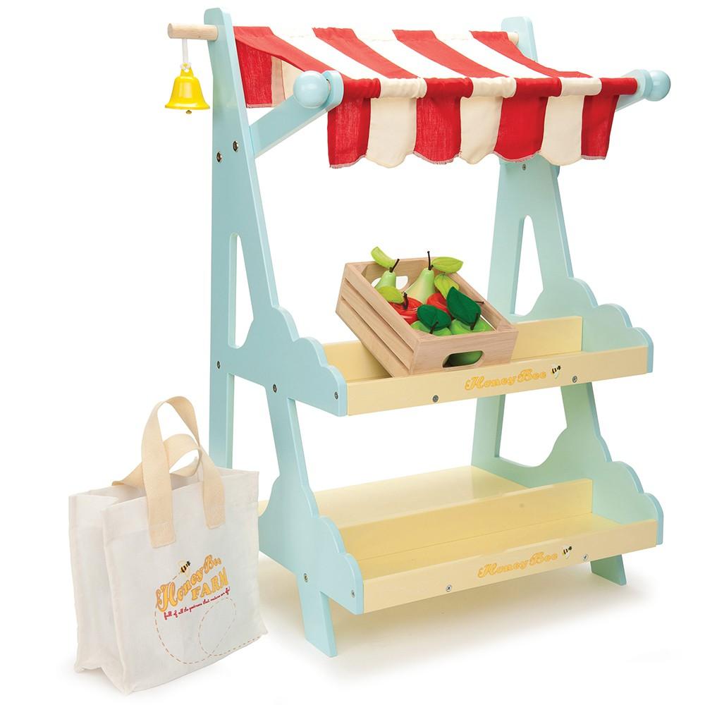 英國 Le Toy Van 角色扮演系列-市集咖啡攤位大型玩具組(TV181)【hughugbaby抱抱寶貝】