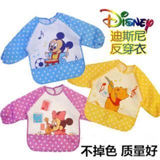 兒童防水防油罩衣長袖 吃飯衣嬰兒圍兜寶寶反穿衣圍嘴畫畫衣服圍裙衫 可愛嬰兒防水長袖反穿衣 圍兜 畫畫衣 罩衫衣