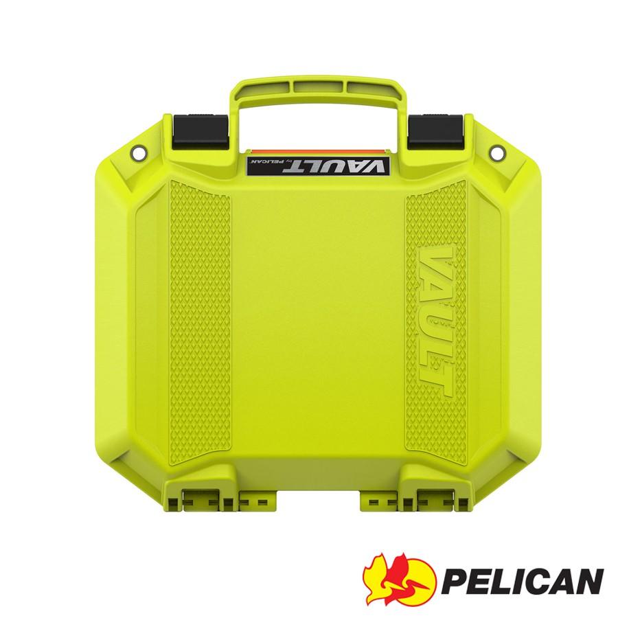 PELICAN 派力肯 Vault系列 V100 氣密箱 含泡棉 青綠色 / 露營 玩水 野餐 適用