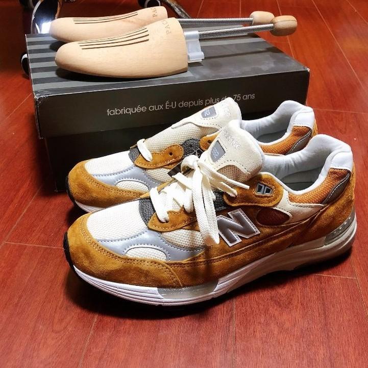 Packer x New Balance 992 M992PK1 棕橘色 D寬 老爹鞋 慢跑鞋