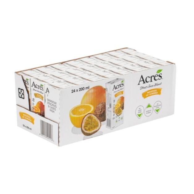 好市多專職代購-促銷中-Acres 柳橙百香果綜合果汁 200毫升 X 24入-1單只能一組