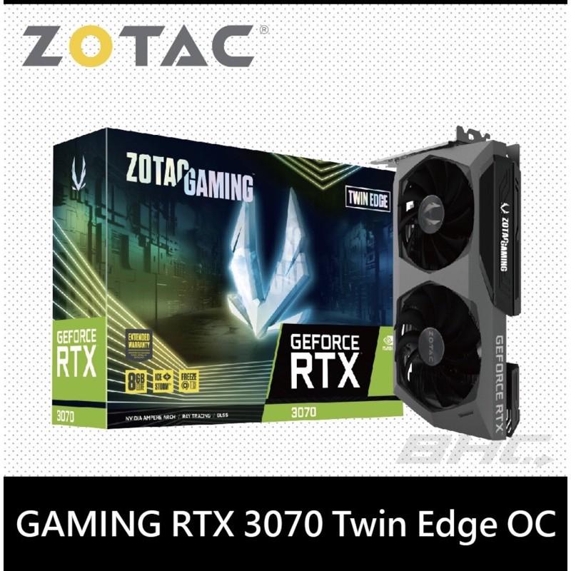 4/20更新 現貨 ZOTAC GAMING RTX3070 TWIN EDGE OC