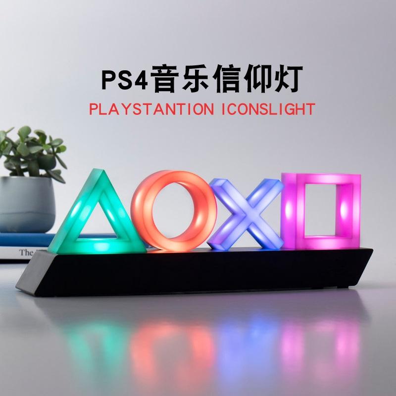 PS4信仰灯音乐呼吸灯PlaySation icons light PS4图案灯