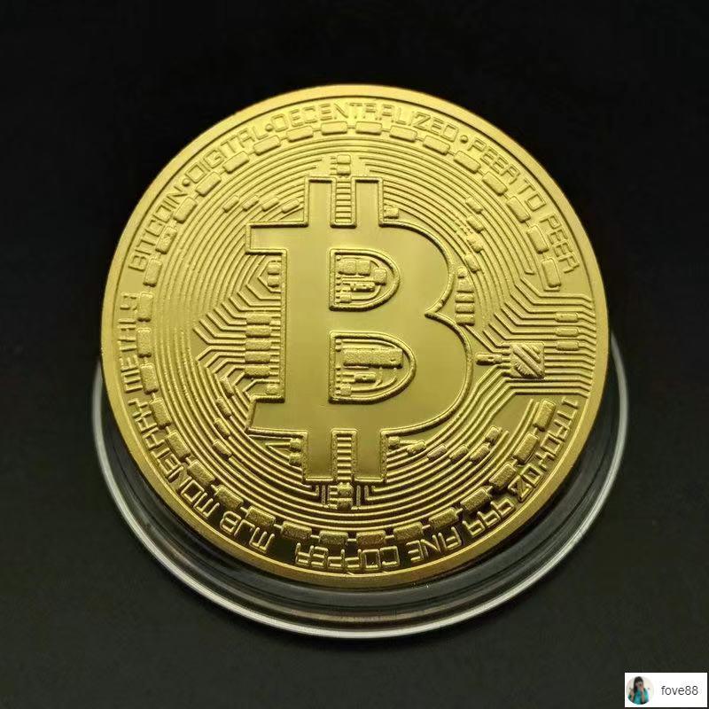熱銷有貨 比特幣紀念幣數字貨幣虛擬幣bitcoin金幣禮物紀念章禮品幸運幣
