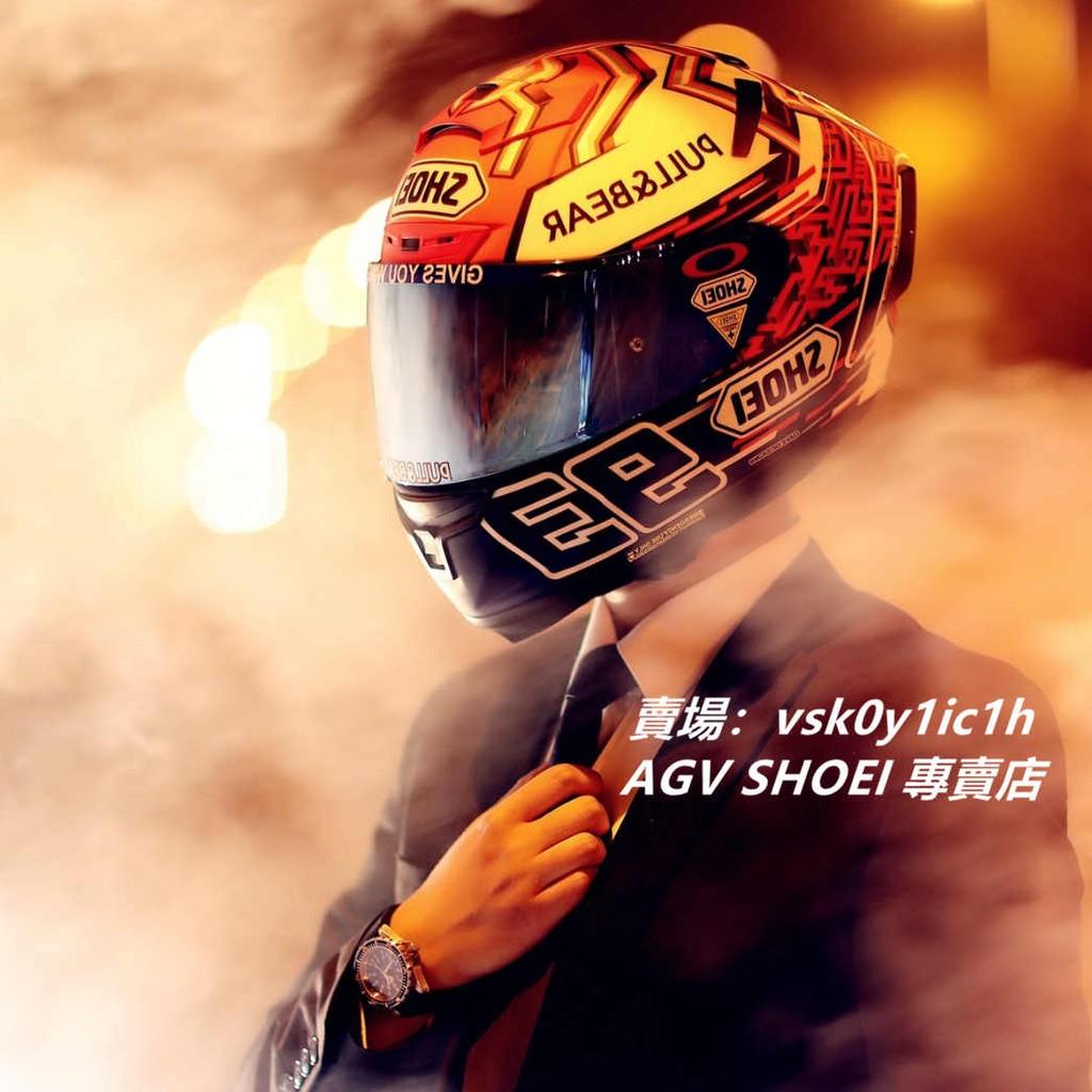 shoei安全帽 X14白紅螞蟻全罩安全帽 賽道機車騎士頭盔
