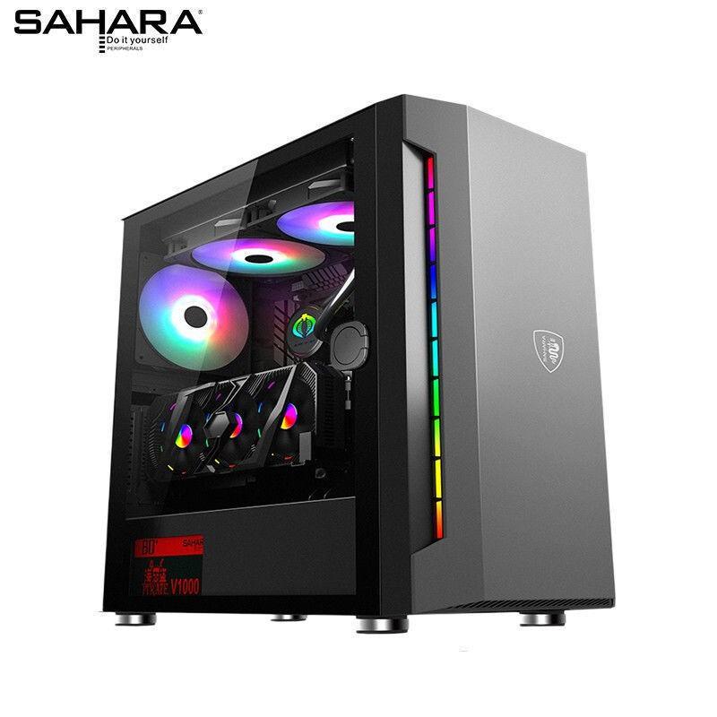 *免運* 撒哈拉逆行者301機殼 501側透台式機 M-ATX黑粉色遊戲主機 電腦機殼