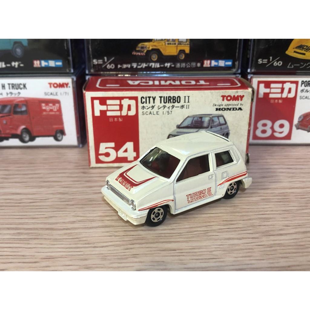 Tomica 日本製 no.54 CITY TURBO II 早期盒 紅標 絕版