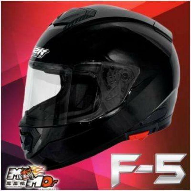 M2R F5 F-5 全罩式安全帽亮黑 內建墨片