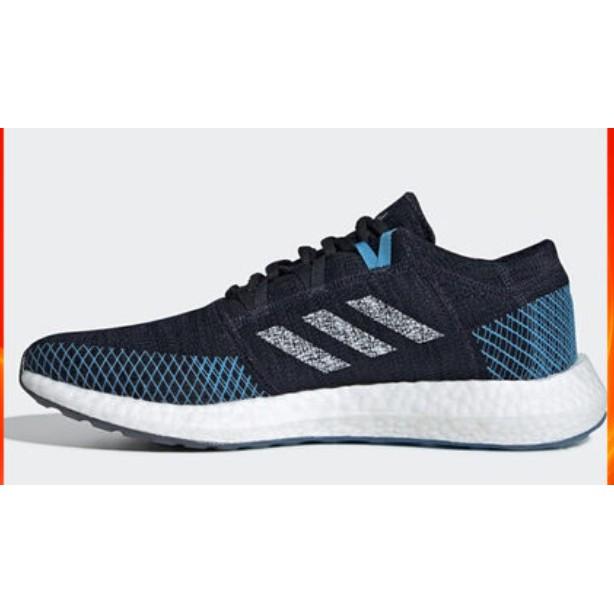 Adidas PUREBOOST GO 男款 慢跑鞋 黑藍 EF7634