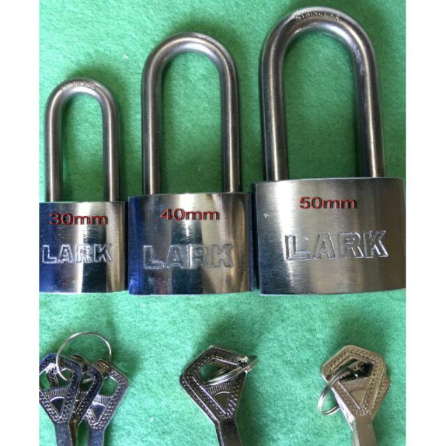 【88五金】( LARK)白鐵冷凍鎖 中長 不鏽鋼鎖頭 白鐵鎖頭 不鏽鋼 台灣製