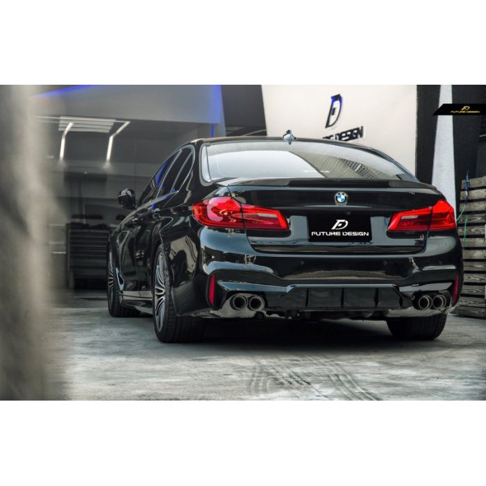 【Future_Design】BMW G30 G31 MTECH 升級 F90 M5 四出 後下巴 PP亮黑材質 現貨