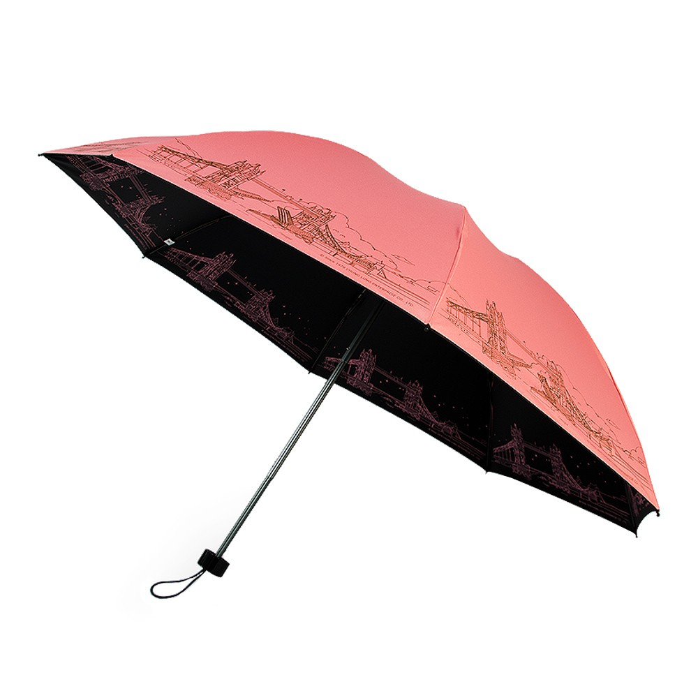 【雙龍牌】倫敦鐵橋鈦灰無敵反向手開折傘(黑膠反向傘防風反折傘晴雨傘B6610C)