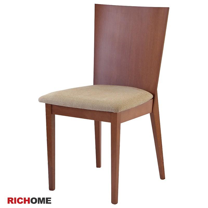 【RICHOME】CH1018   簡單實木餐椅-2色  餐椅  木椅   聚餐椅   餐廳  廚房