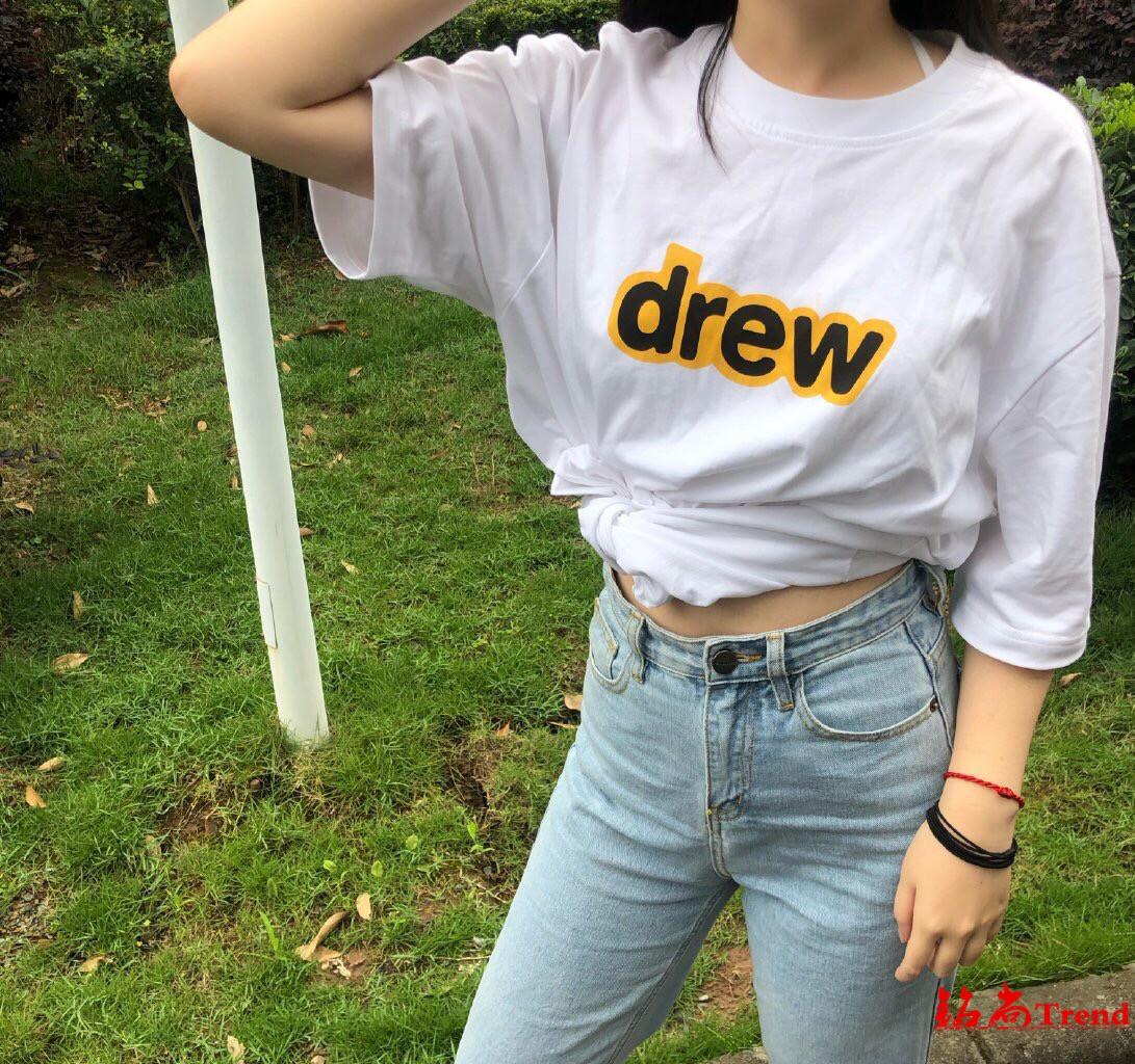 代購 Drew House Justin 比伯 DREWHOUSE字母 男女圓領寬松短袖T恤 潮
