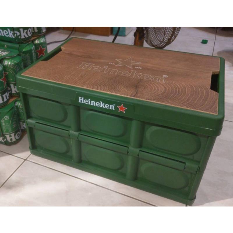 海尼根野餐折疊桌面收納箱