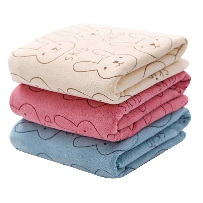 【mamalove】小兔超細纖維毛巾沐浴嬰兒毛巾 超柔軟吸水卡通毛巾