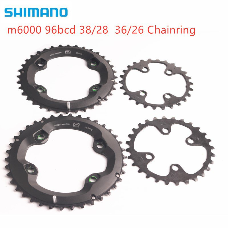 Fast delivery shimano DEORE m6000 chainring 96bcd 38 28t 36