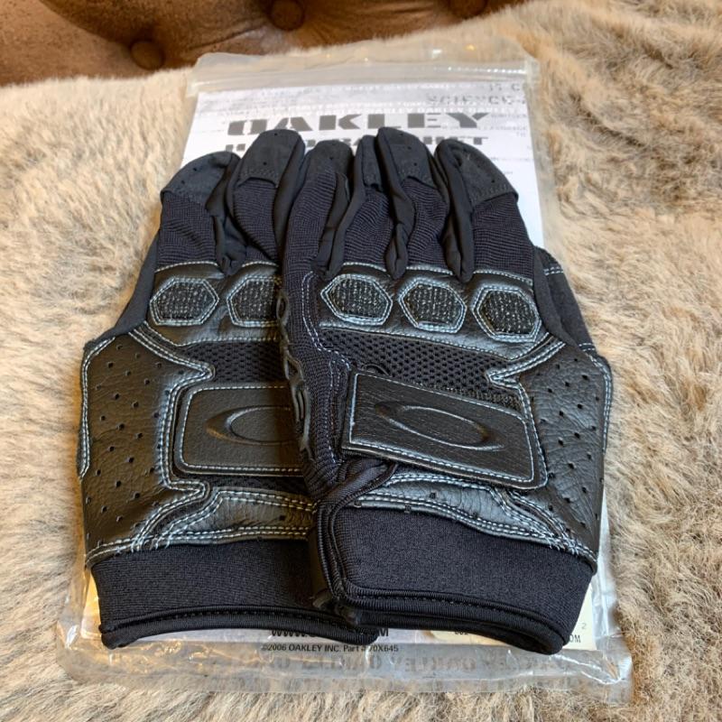 OAKLEY 潮牌精品異材戰術甲皮革短手套