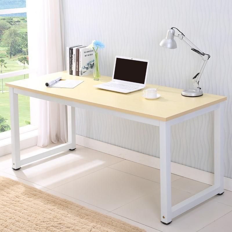 電腦桌鋼木書桌加長加厚80/100/120/140/160寬50/60/70/80高75cm