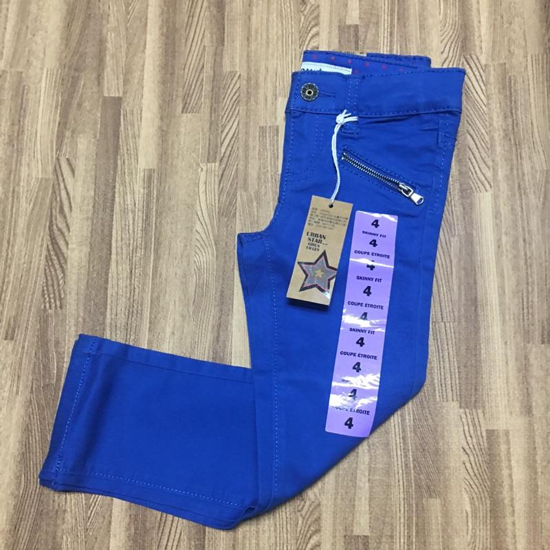 Urban Star 女童牛仔褲(寶藍色) 4T、5T