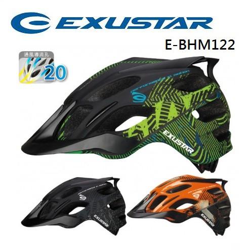 EXUSTAR 自行車安全帽、56-62cm、20通風導流孔、E-BHM122