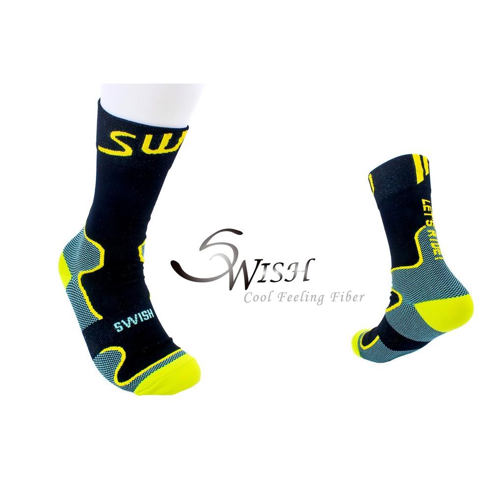 Swish 運動襪 涼感紗【輕量單車】自行車襪 健走襪 登山襪