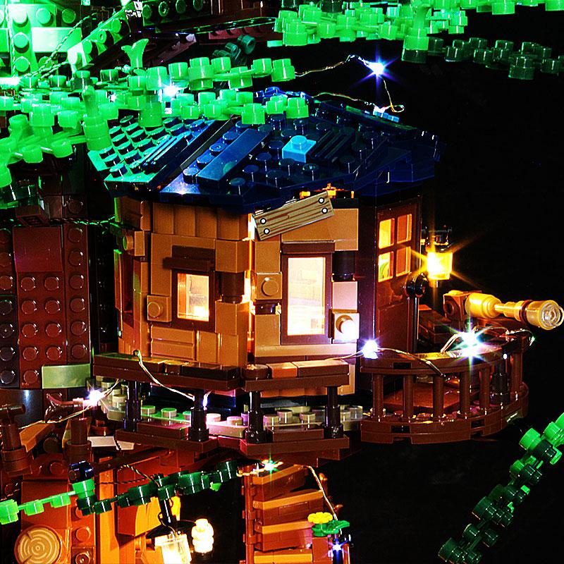 【收納盒】適用樂高21318樹屋燈飾創意DIY燈具配件Ideas系列LEGO積木LED燈光