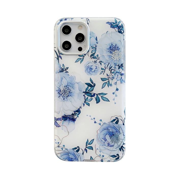 保護殼 iphone 7 8 7plus 8plus SE iX XS XR XSMax 雙面覆膜炫彩花 高透半包手機殼