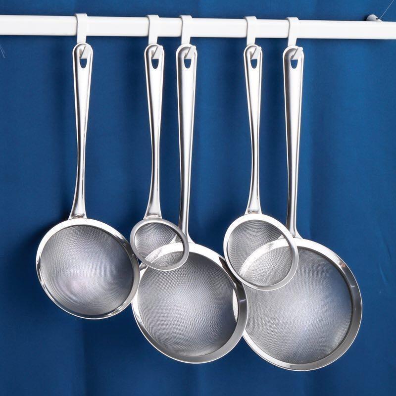现货✌漏勺 304不銹鋼豆漿過濾網篩超細家用神器榨果汁機隔渣漏網廚房小漏勺