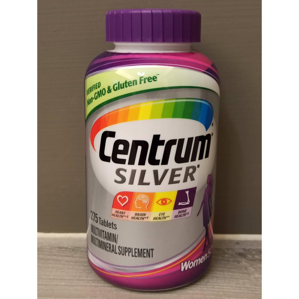 美國原裝COSTCO銀寶善存綜合維他命 女士 50歲 Centrum Silver Women 50+ , 275顆裝