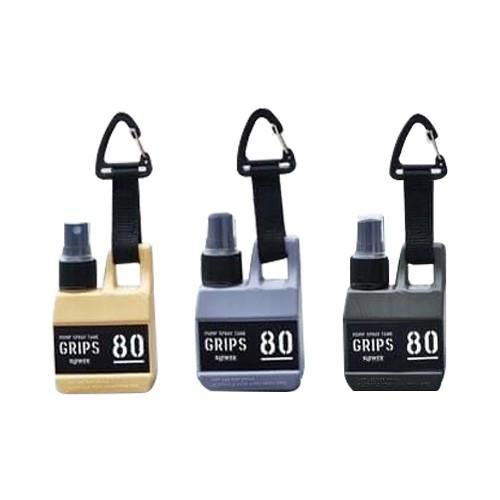 【日本 Slower】扣環式 隨身攜帶噴霧瓶 80ml 米黃色/沙色 灰色 共兩款 各別販售