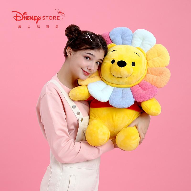 迪士尼商店 太陽花維尼系列毛絨玩偶公仔中小號玩具小熊維尼玩偶