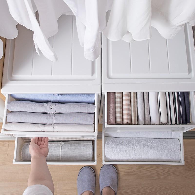 ㊣收納系列㊣日本天馬株式會社收納箱抽屜式家用衣柜衣服收納盒ins玩具整理箱